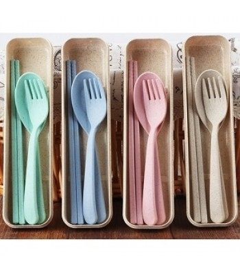 Different Colour Wheat Cutlery Set