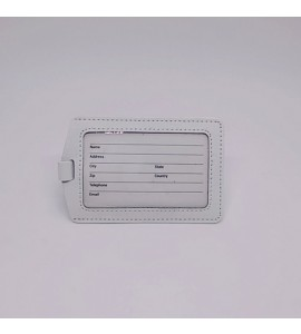 White PU Leather Tag