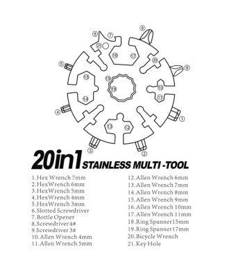 Stainless Steel Multi-Purpose Tool