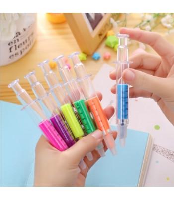 Syringe Highlighter Pens